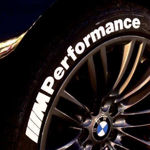 M PERFORMANCE (BMW) Tire Lettering Kit (Set of 4 Decals)