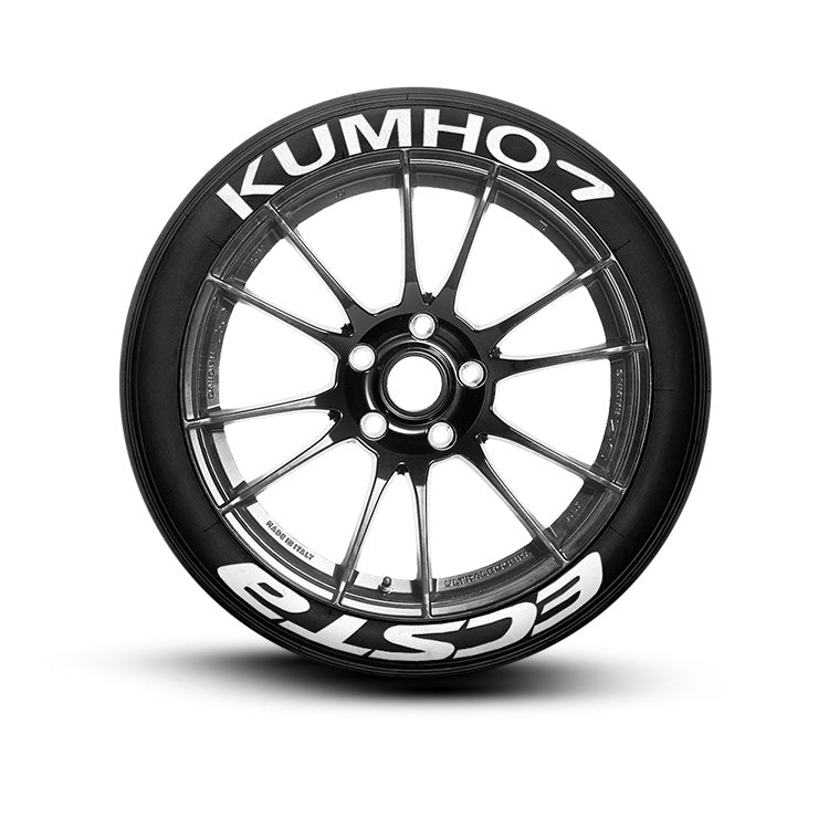 Kumho Ecsta Tire Lettering and Tire Stickers
