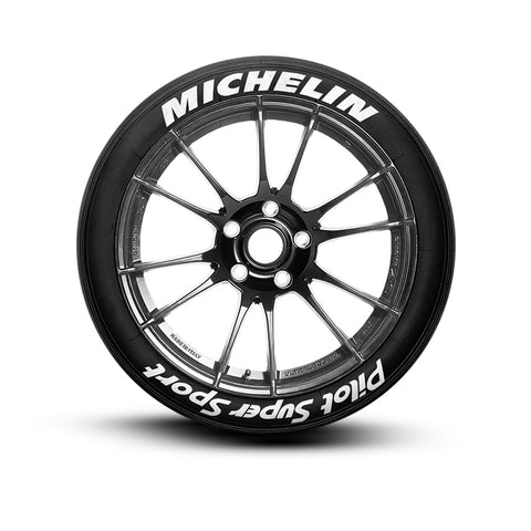 Michelin Pilot Super Sport Tire Letters Tire Stickers