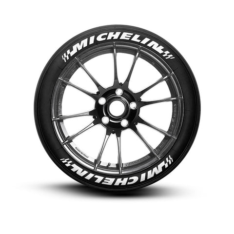 Michelin Racing Tire Lettering (Set of 8 Tire Decals)