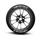 Monster Tire Lettering and Tire Stickers