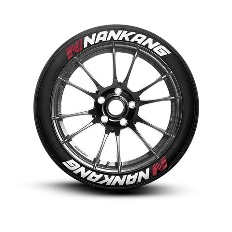 Nankang Tire Lettering (Set of 8 Tire Decals)