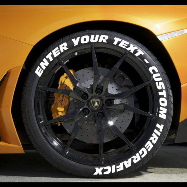 Create your own tire stickers full tire decal kit for How to blackout white letter tires