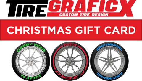 Tire Stickers and Tire Lettering Kit Gift Card
