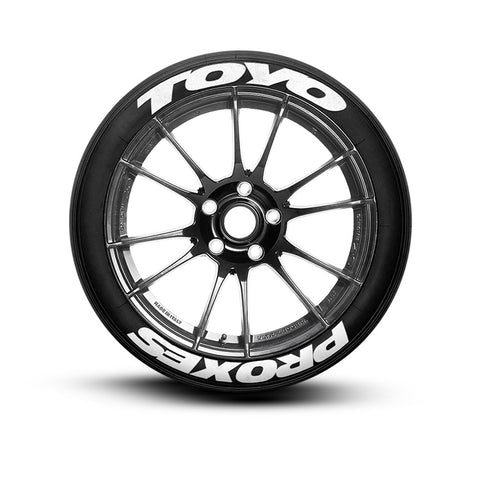 Toyo Proxes tire lettering tire stickers