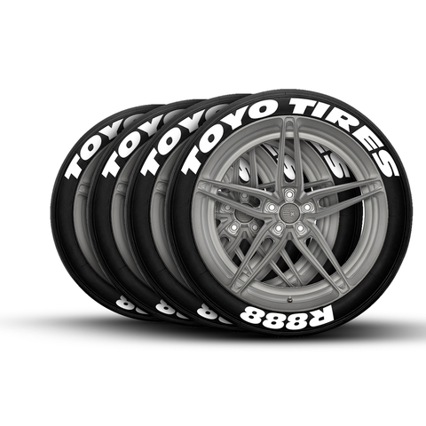 toyo tires r888 tire lettering and tire stickers tiregraficx. Black Bedroom Furniture Sets. Home Design Ideas