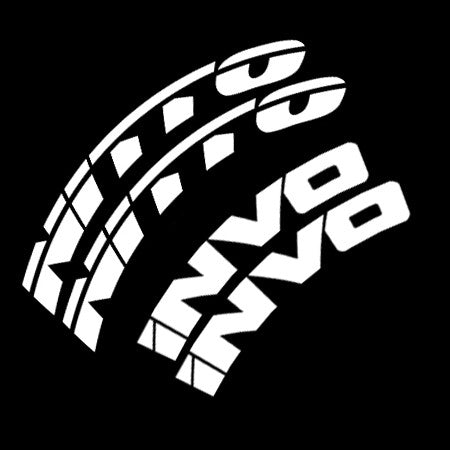 NITTO INVO Tire Lettering Kit (Set of 8 Decals)