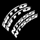 NITTO NT555 Tire Lettering Kit (Set of 8 Decals)