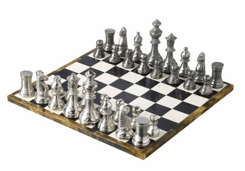 Horn Chess Set With Aluminium Pieces