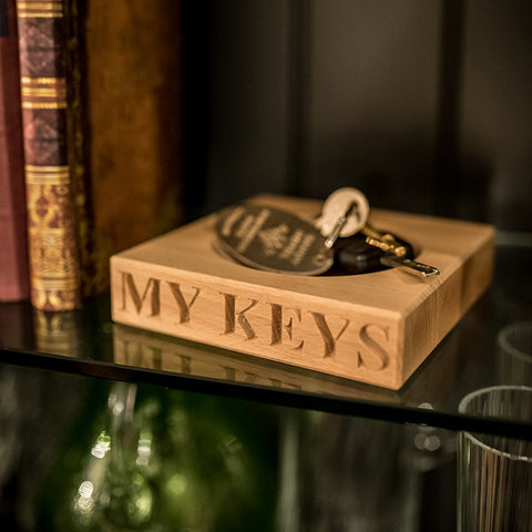 My Keys Wooden Block