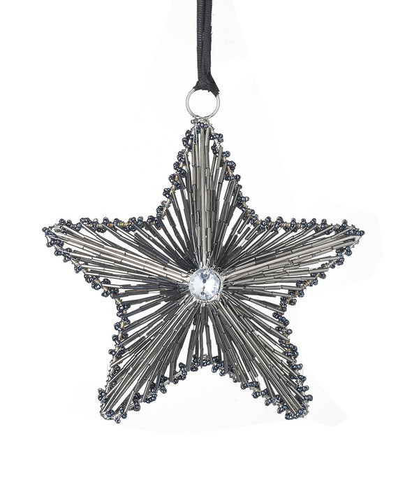 Beaded Silver Star