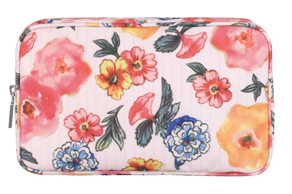 vintage & co heathcote & ivory patterns and petal makeup cosmetic toiletry wash bag pink peach