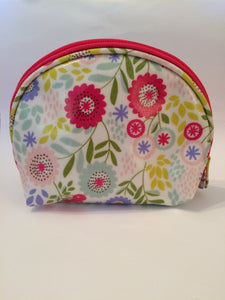 floral makeup cosmetic wash bag