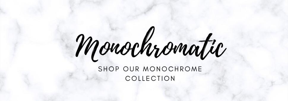 Shop the latest home decor trend: Monochrome. Browse our range of home decor products in shades of black, white and cream.