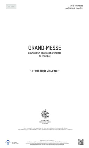 Grand-Messe (version orchestrale) - SATB, solistes et orchestre de chambre
