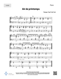 Air de printemps - Solo, SATB + piano