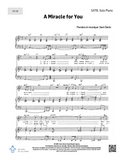 A Miracle for You - SATB + solo + piano