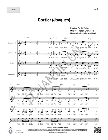 Cartier (Jacques) - SAH