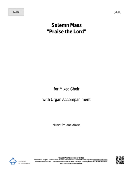 "Solemn Mass ""Praise the Lord"" - SATB + orgue"