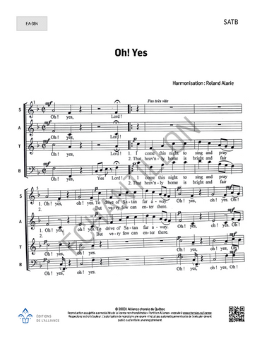 Oh! Yes - SATB + piano