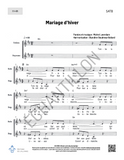 Mariage d'hiver - SATB (+ accompagnement)