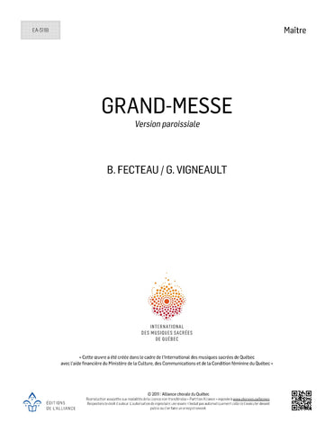 Grand-Messe (version paroissiale) - SATB, solistes et orgue