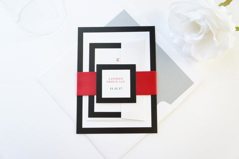 Red Company Invitation, Awards Ceremony, Business Invite