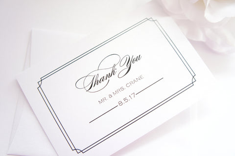 Classic Wedding Thank You Cards -  DEPOSIT