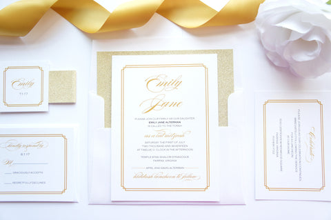Bat Mitzvah, Quince or Sweet Sixteen Invitation - DEPOSIT