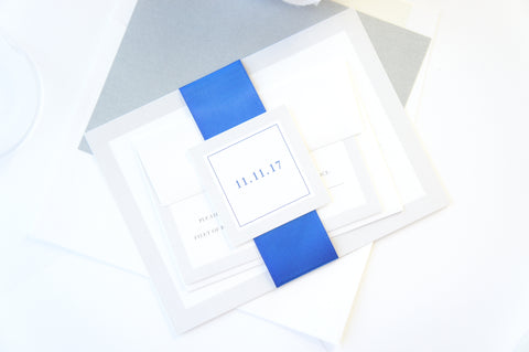 Royal Blue Company Invitation