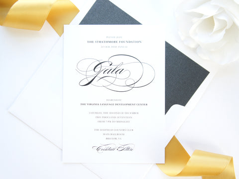 Elegant Gold Corporate Event Invitation