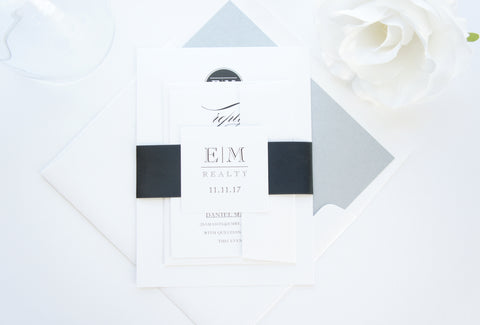 Black and Gray Corporate Event Invitation
