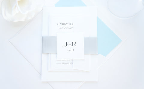 Simple Elegant Wedding Invitation - DEPOSIT