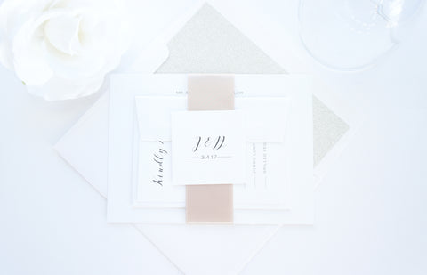 Modern Calligraphy Wedding Invitation - DEPOSIT