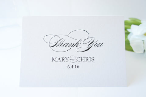 Elegant Wedding Thank You Cards -  DEPOSIT