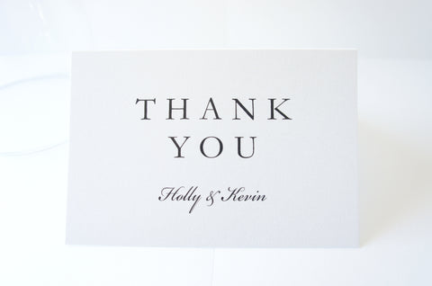 Modern Elegant Wedding Thank You Cards -  DEPOSIT