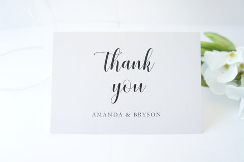 Modern Script Wedding Thank You Cards -  DEPOSIT