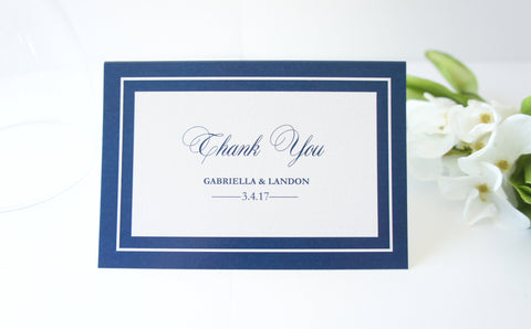 Navy Wedding Thank You Cards -  DEPOSIT