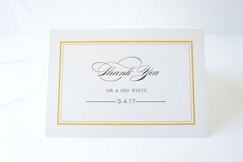 Traditional Gold Thank You Cards -  DEPOSIT