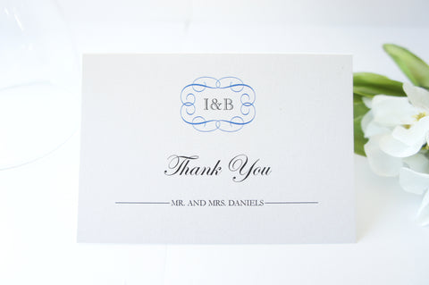 Royal Wedding Thank You Cards -  DEPOSIT