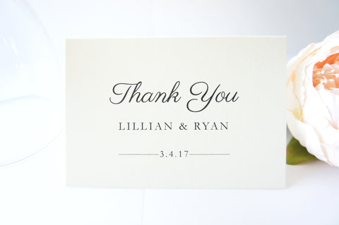 Traditional Wedding Thank You Cards -  DEPOSIT