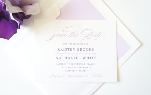 Purple Modern Save the Date