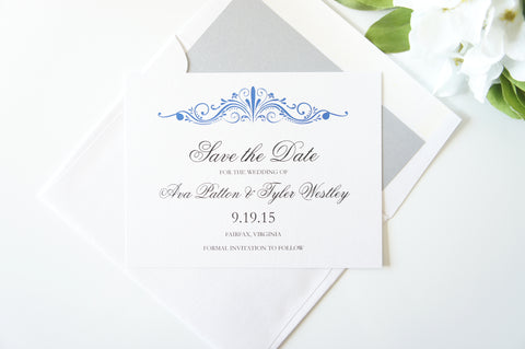 Royal Blue Save the Date
