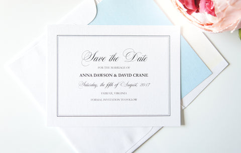 Elegant Light Blue Save the Date