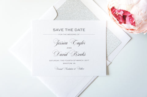 Simple Elegant Save the Date
