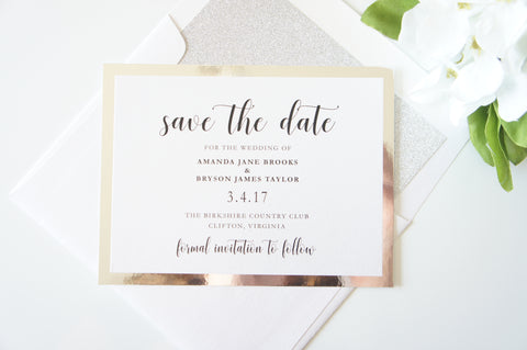 Modern Silver Save the Date