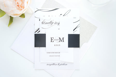 Calligraphy Wedding Invitation - SAMPLE SET