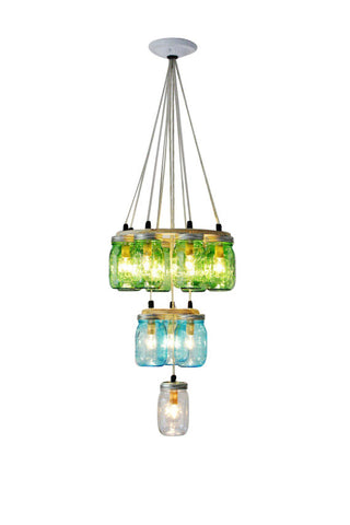 3 Tier Mason Jar Chandelier for entryways Interior