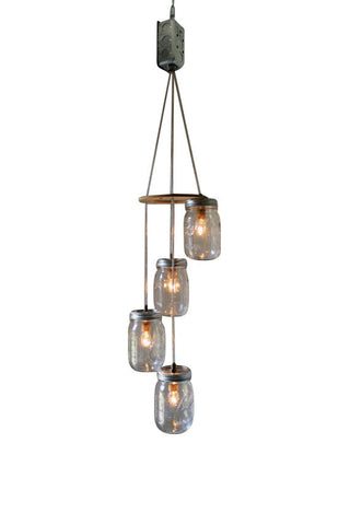 Autumn Breeze Mason Jar Chandelier For Interior & Ceiling