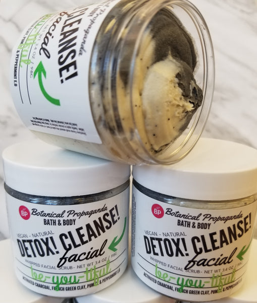 DETOX CLEANSE WHIPPED FACIAL SCRUB REVIEW By Alyssa Amber Bath & Beauty